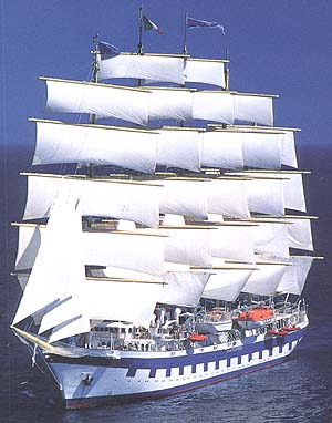 Морской круизный лайнер Royal Clipper