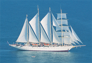 Морской круизный лайнер Star Flyer (Star Clippers)